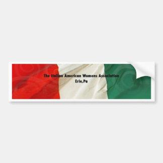 Italienska amerikankvinna anslutning bildekal