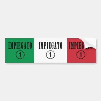 Italienska anställda: Impiegato Numero Uno Bildekal