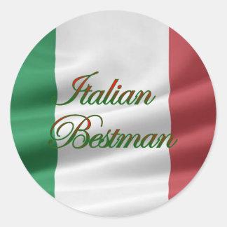 italienska Bestman Runt Klistermärke