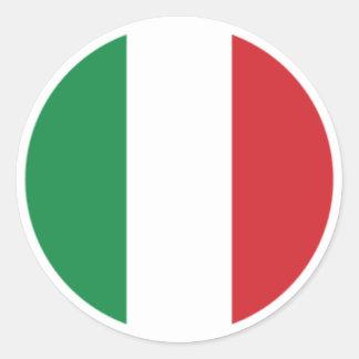 Italienska flaggaklistermärkear av Burton Runt Klistermärke