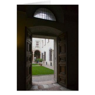Italienska kort, Buonconsiglio slott Trento Hälsningskort