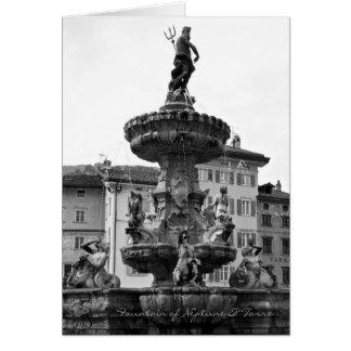 Italienska kort, fontän av Neptune & Torre Trento Hälsningskort