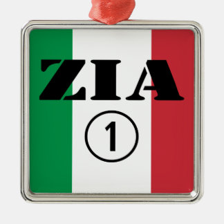 Italienska mostrar: Zia Numero Uno Julgransprydnad Metall