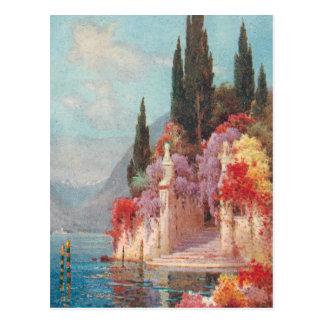 Italienska sjöarblommor vykort