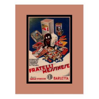 Italienska sötsaker för vintage som annonserar vykort