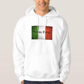 Italienskt bylte tröja med luva