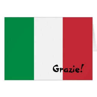 Italienskt flaggatack OBS kort
