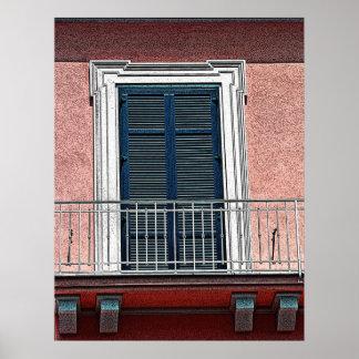 Italienskt fönster och balkong (2) poster