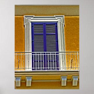 Italienskt fönster och balkong poster