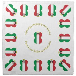 Italienskt hår för ängelflaggasvart tygservett