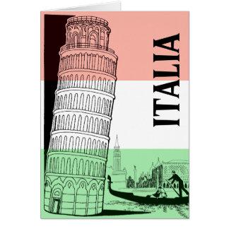 Italienskt Landmarkhälsningkort - personlig Hälsningskort