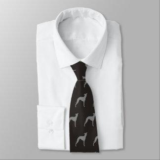 Italienskt vinthundSilhouettesmönster Slips