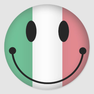ItalienSmiley Runt Klistermärke