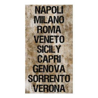 Italienstäder Poster