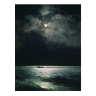 Ivan Aivazovsky- Blacket Sea på natten Vykort
