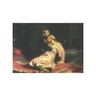 Ivan det ruskigt och hans Son Canvastryck