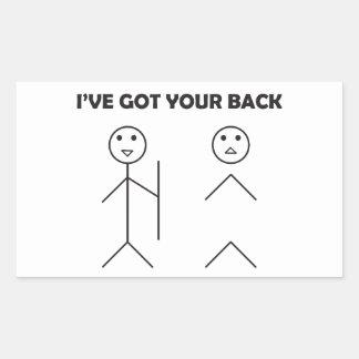 I've fick din baksida-pinnen manar rektangulärt klistermärke