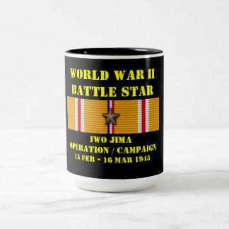 Iwo Jima funktionskampanj Två-Tonad Mugg