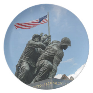 Iwo Jima minnesmärke i Washington DC Tallrik