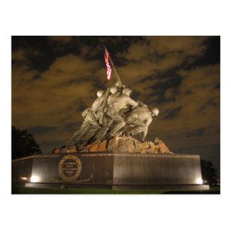 Iwo Jima på nattvykortet Vykort