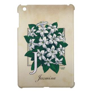 J för jasminblommigtMonogram iPad Mini Fodral
