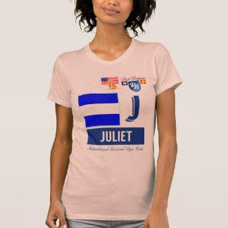 J nautiska Juliet signalerar kodifierar att segla T Shirt