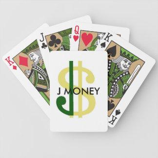 J-pengar som leker kort spelkort