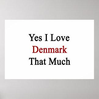 Ja älskar jag Danmark som mycket Affisch