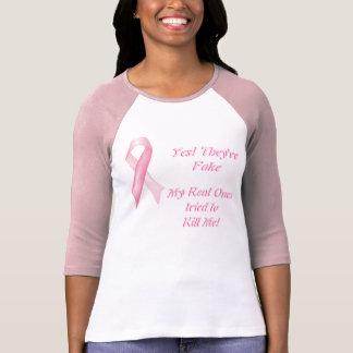 Ja är de fejkar bröstcancerbandT-tröja T-shirt