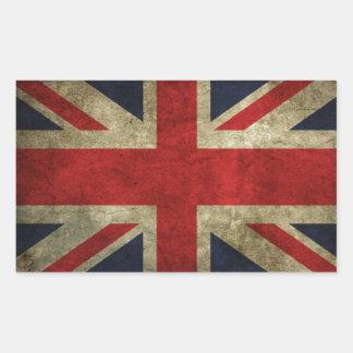 Ja är vi brittiska!! rektangulärt klistermärke