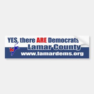 Ja FINNS det demokrater i Lamar County Bildekal