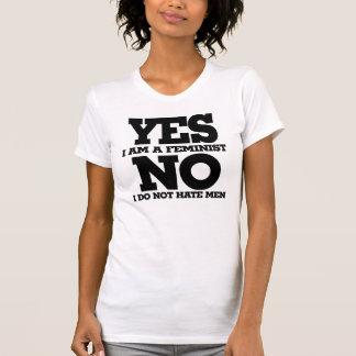 Ja hatar jag förmiddagen en ingen feminist mig t-shirt