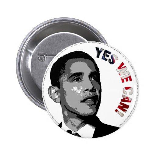 Ja kan vi! - Politiska Obama knäppas Pins