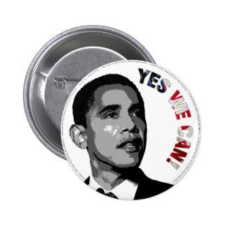 Ja kan vi! - Politiska Obama knäppas Standard Knapp Rund 5.7 Cm