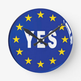 Ja till EG - stag i Europeiska unionen Medium Rund Klocka