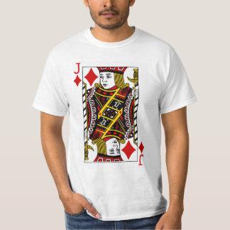 Jack av diamanter som leker kortet tee shirt