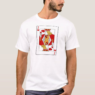 Jack av hjärtor som leker kortet t-shirt