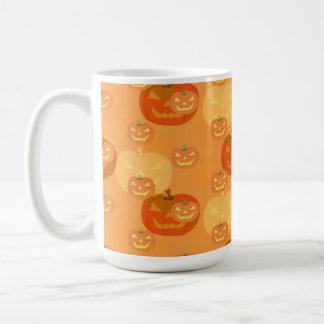 Jack o lantern halloween vit mugg