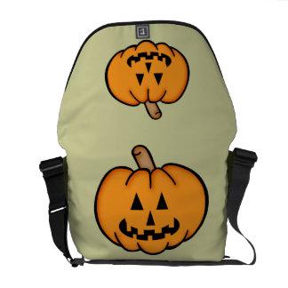 Jack o lantern messenger bag