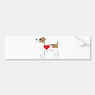 JackRussell Terrier Bildekal