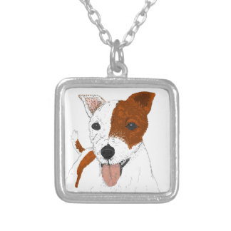 JackRussell Terrier Silverpläterat Halsband