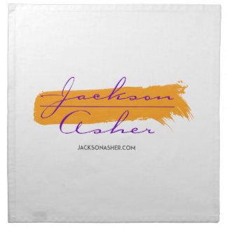 Jackson Asher - orangen målar hårt slag Tygservett