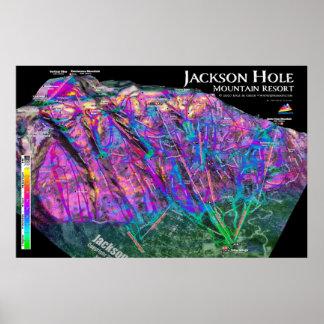Jackson Hole 3dSkiMaps affisch