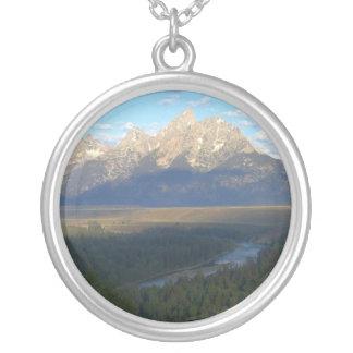 Jackson Hole berg (den storslagna Teton Silverpläterat Halsband
