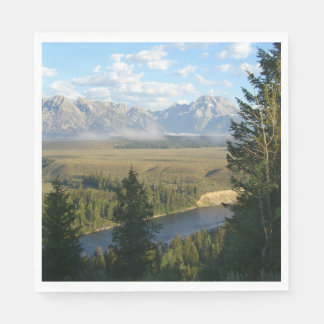 Jackson Hole berg och flod Servett