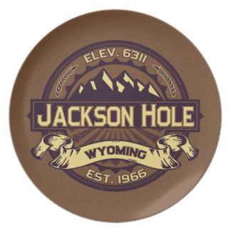 Jackson Hole Sepia Tallrik