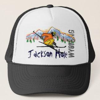Jackson Hole Wyoming skidar hatten Truckerkeps