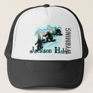 Jackson Hole Wyoming snowboardhatt Keps