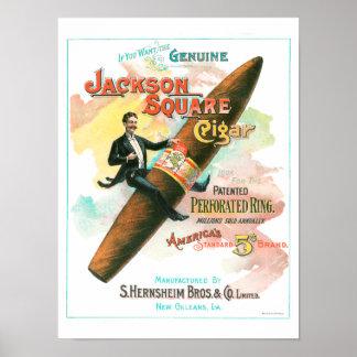 Jackson kvadrerar cigarren poster