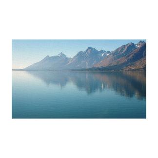 Jackson sjö, storslagna Tetons Canvastryck